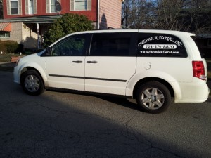 Cheswick Floral Delivery Van Back