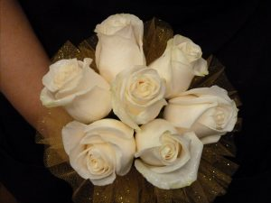 Ivory rose bouquet